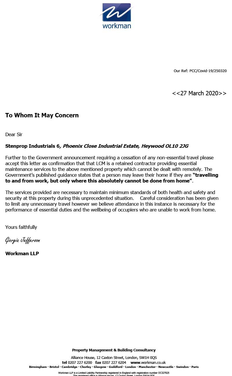 LCM Group Letter Of Comfort